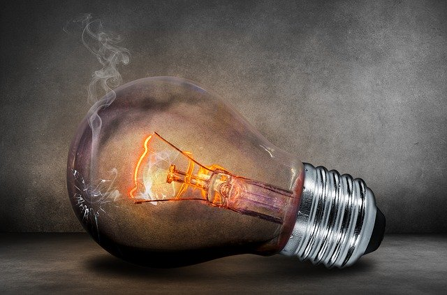 Light bulb about to burn out
